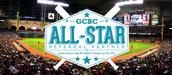 GCBC's Top Referral Sources Enjoy 11th Annual Houston Astros Heavy Hitter Event