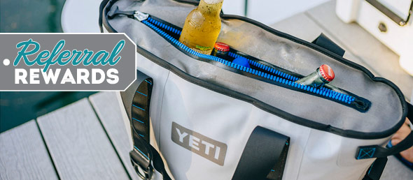 Start the New Year with Referral Rewards and win a Yeti Cooler!