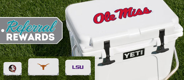 Tip Off 2017 with Referral Rewards and Win a Yeti Cooler!