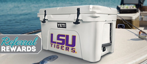 Make a splash this Summer with Referral Rewards and Win a Yeti Cooler!