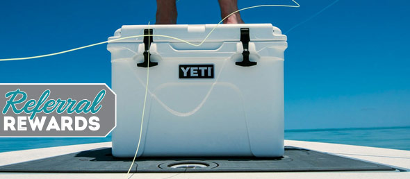 Start 2018 with Referral Rewards and Win a Yeti Cooler!
