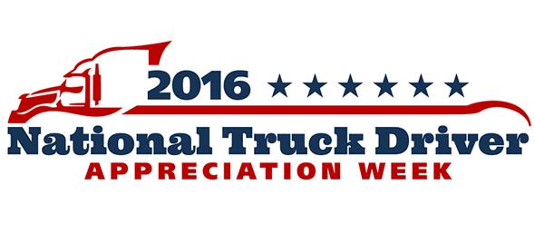 Happy National Truck Driver Appreciation Week